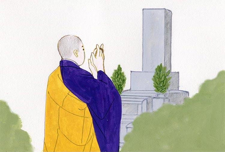 建碑式(けんぴしき)、(開眼法要、お性根入れ)
