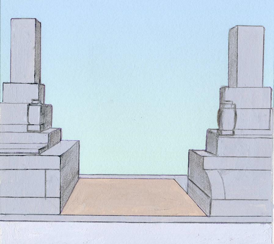 墓地を確保