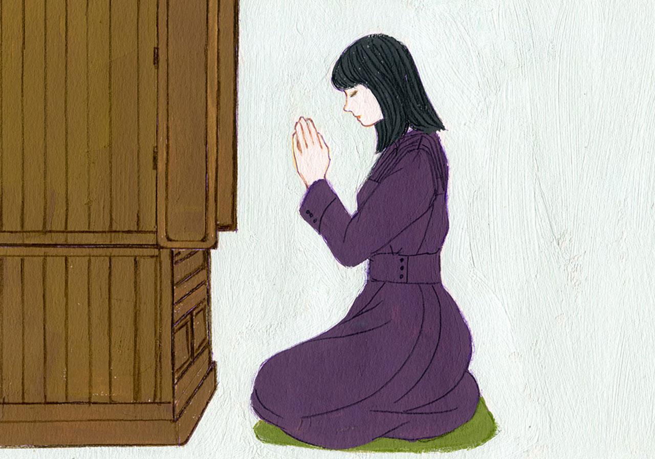お仏壇を閉じる