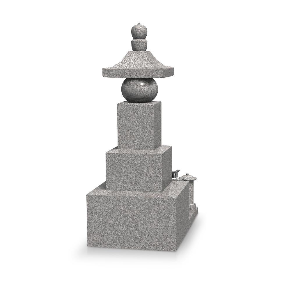 大日堂のお墓/五輪塔二重台 背面