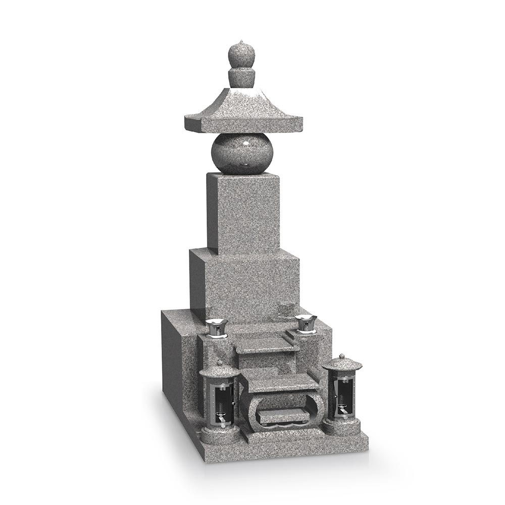 大日堂のお墓/五輪塔二重台 正面