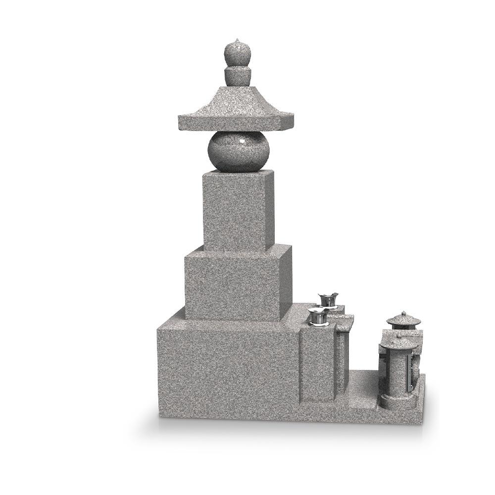 大日堂のお墓/五輪塔二重台 側面