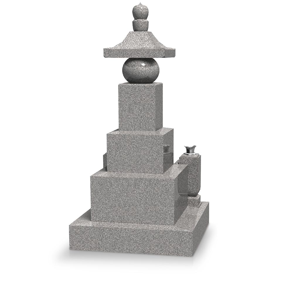 大日堂のお墓/五輪塔三重台 背面