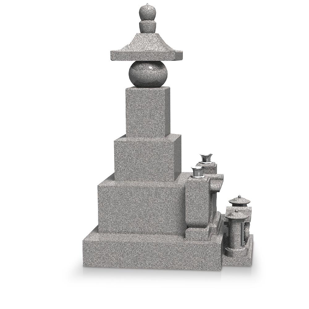 大日堂のお墓/五輪塔三重台 側面