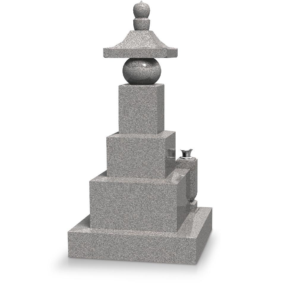 大日堂のお墓/五輪塔三重台J 背面