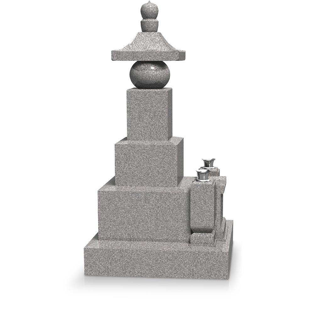 大日堂のお墓/五輪塔三重台J 側面